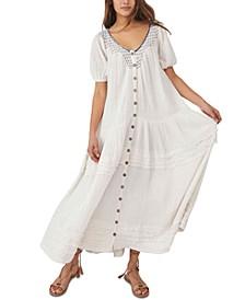 Sunday Stroll Cotton Maxi Dress