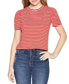 Striped Puff-Sleeve T-Shirt