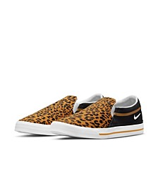 Women's Court Legacy Leopard Slip-On Casual Sneakers from Finish Line