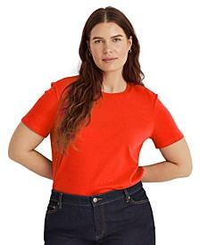 Plus-Size Cotton-Blend T-Shirt