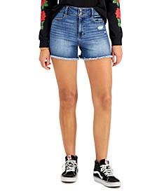 Juniors' Cheeky Raw-Hem Denim Shorts