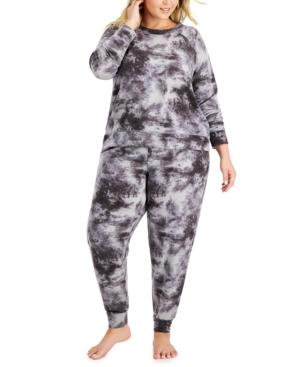 Women's Plus Tie Dye Pajama Set