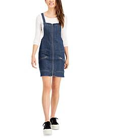 Juniors' Zippered Denim Dress