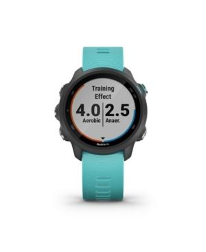 Unisex Forerunner 245 Music Aqua Silicone Strap Smart Watch 30.4mm