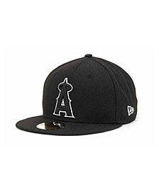 Los Angeles Angels of Anaheim MLB Black and White Fashion 59FIFTY Cap