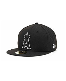 New Era Los Angeles Angels of Anaheim MLB Black and White Fashion 59FIFTY Cap