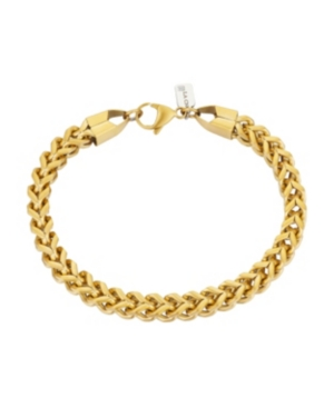 Brushed Gold Tone Stainless Steel 6mm Franco Chain Bracelet