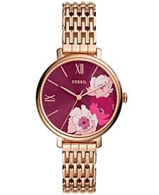 Women's Jaqueline rose gold tone 3 hand movement, bracelet watch 36mm