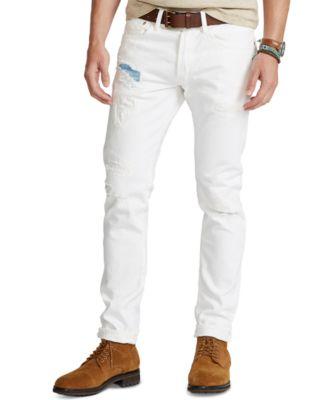 폴로 랄프로렌 데님진 Polo Ralph Lauren Mens Sullivan Slim Distressed Jeans,Mcconnell