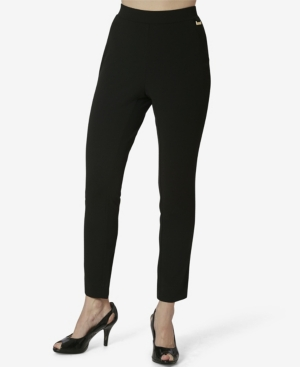 Women's Pull on Pants with Faux Fly