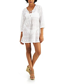 Lace-Up Tunic Cover-Up
