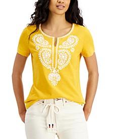 Cotton Printed Caftan T-Shirt