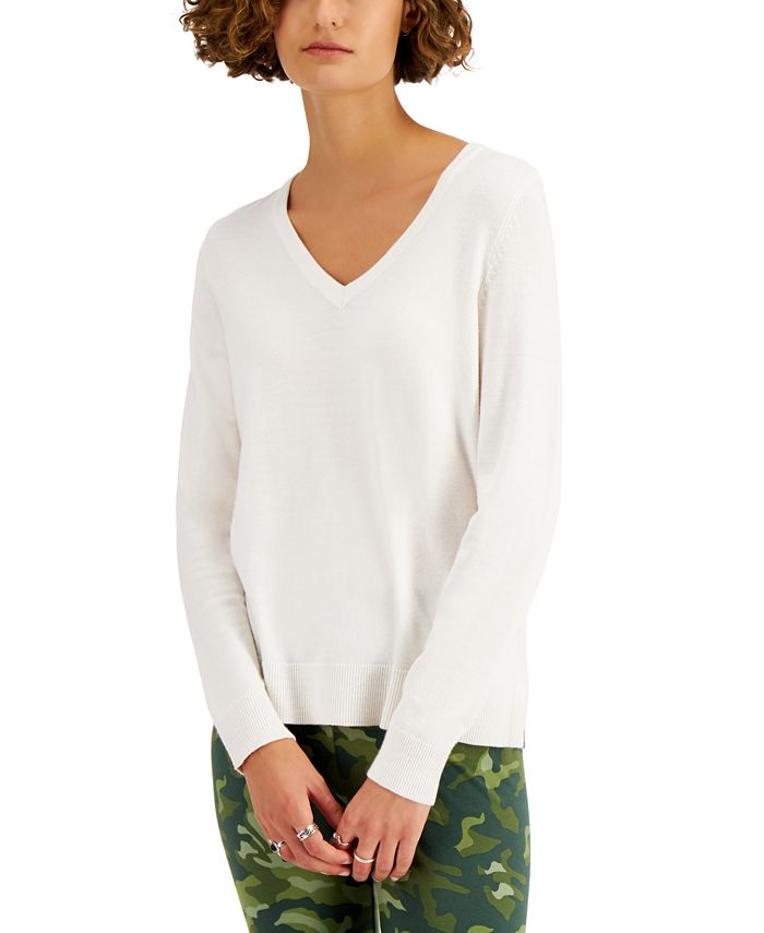 Style & Co Solid V-Neck Sweater