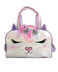Kids Miss Bella Kitty Rainbow Crown Duffle Bag