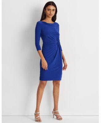 로렌 랄프로렌 Lauren Ralph Lauren Twisted-Knot Jersey Dress,Sporting Royal