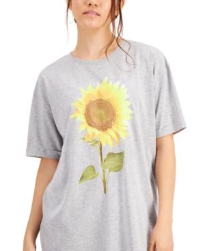 Juniors' Sunflower Graphic T-Shirt Dress