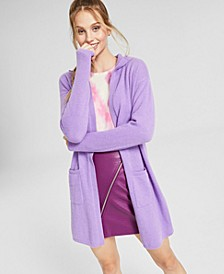 Cashmere Open-Front Hoodie, Created for Macy's