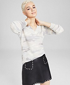 Cashmere Camo Sweater, In Regular and Petites, Created for Macy's