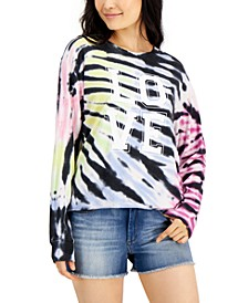 Tie-Dyed Love Graphic Top