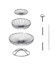 3 Tiers Wire Basket Fruit Bowl