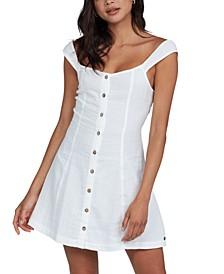 Juniors' Think Again Cotton Mini Dress