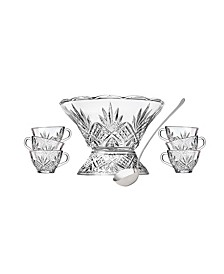 Dublin 8 Piece Punch Bowl Set with Cups and Metal Ladle