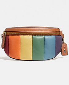 Bethany Leather Belt Bag With Pride Rainbow Quilting