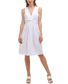 Tie-Waist A-Line Dress