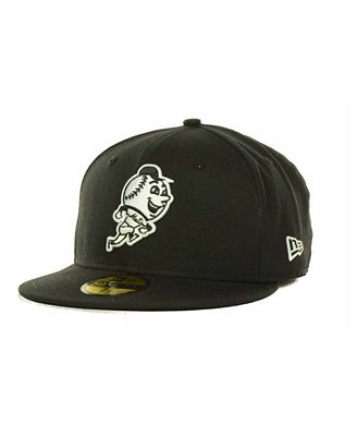 New Era New York Mets MLB Black and White Fashion 59FIFTY Cap