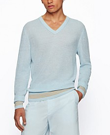 BOSS Men's Hemp-Blend Regular-Fit Sweater