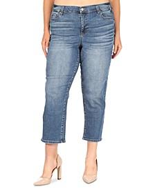 Trendy Plus Size Slim Straight Jeans