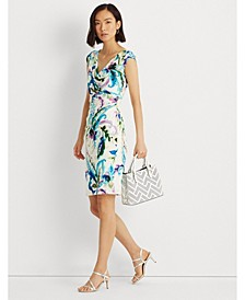 Petite Paisley Pleated Jersey Dress