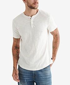 Men's Worn Wash Henley T-shirt