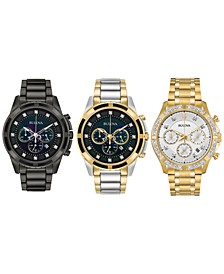 Men's Chronograph Diamond-Accent Watch Collection