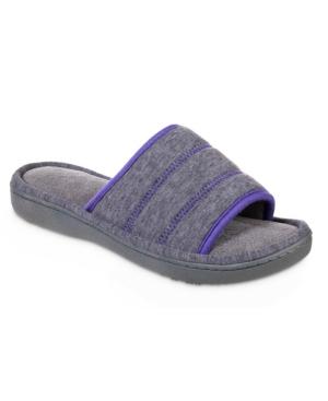 Isotoner Women's Heathered Jersey Jillian Slide Slipper