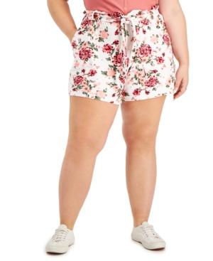 Trendy Plus Size Paperbag Shorts