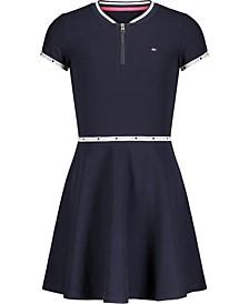 Toddler Girls Quarter Zip Dress