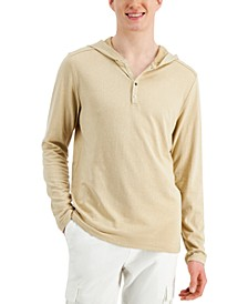 Men's Jacquard Ribbed Hoodie, Created for Macy's