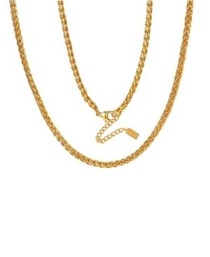 Classic Anti-Tarnish Wheat Chain Necklace
