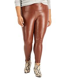 Trendy Plus Size Faux-Leather Leggings