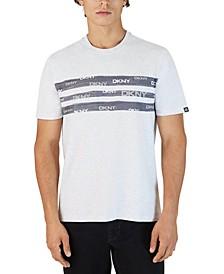 Men's Painted Stripe Logo Graphic T-Shirt