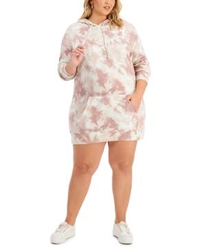 Trendy Plus Size Hoodie Sweatshirt Dress