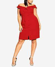 Plus Size Bitter Sweet Off-the-Shoulder Dress