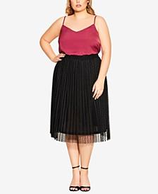 Trendy Plus Size Sweet Spot Skirt
