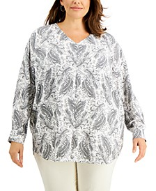 Plus Size Printed High-Low Tunic, Created for Macy's