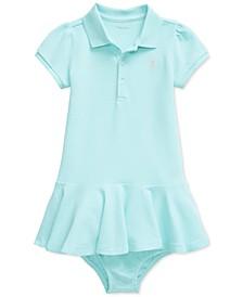 Ralph Lauren Baby Girls Piqué Polo Dress & Bloomer Set