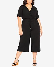 Trendy Plus Size Palm Villa Jumpsuit