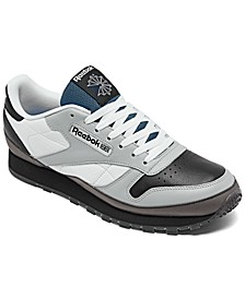 Men's Classic Leather Wrap Casual Sneakers from Finish Line