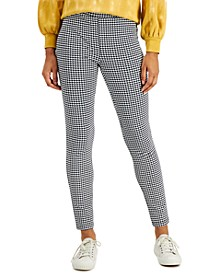 Houndstooth-Print Pull-On Pants, Created for Macy's