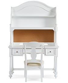 Roseville Kids 3-Piece Desk Set (Desk, Chair, and Hutch)